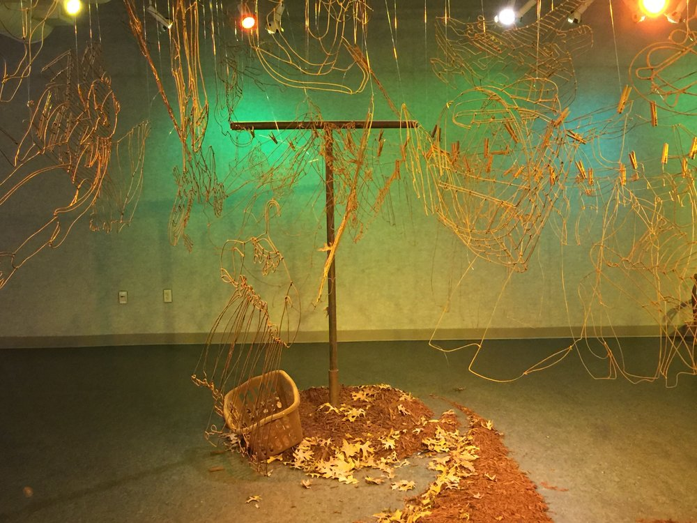As an artist with bipolar disorder, my work often reflects that. Though not the original intent, this installation is a visual image of how my brain works, and what mania is like.  #bipolardisorder   #bpHope  #VORTEX :  #installationart   #installationartist   #wireart   #wireartist  #joelarmstrongfineart