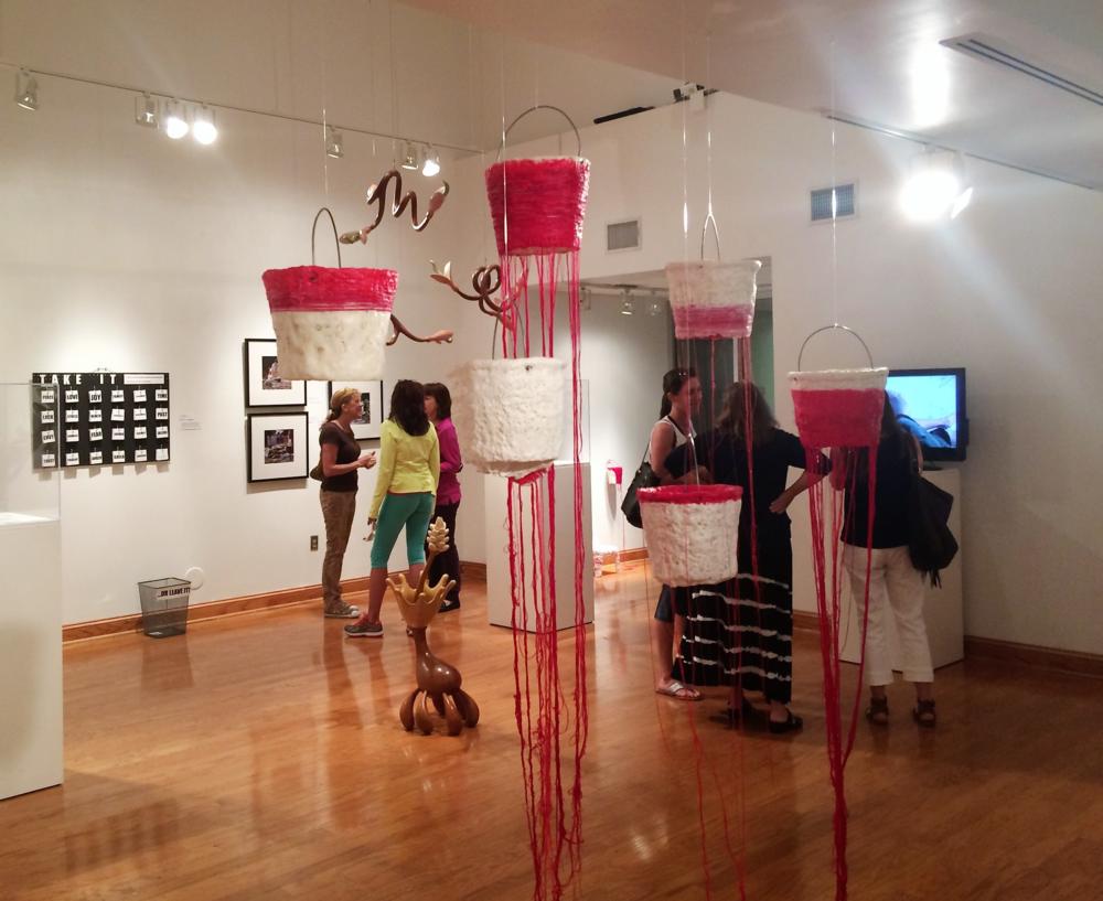 Bloodlines, Artist: Kim Radatz; Creatives Refired: Pot, Paper, Wood & Plastic 2015
