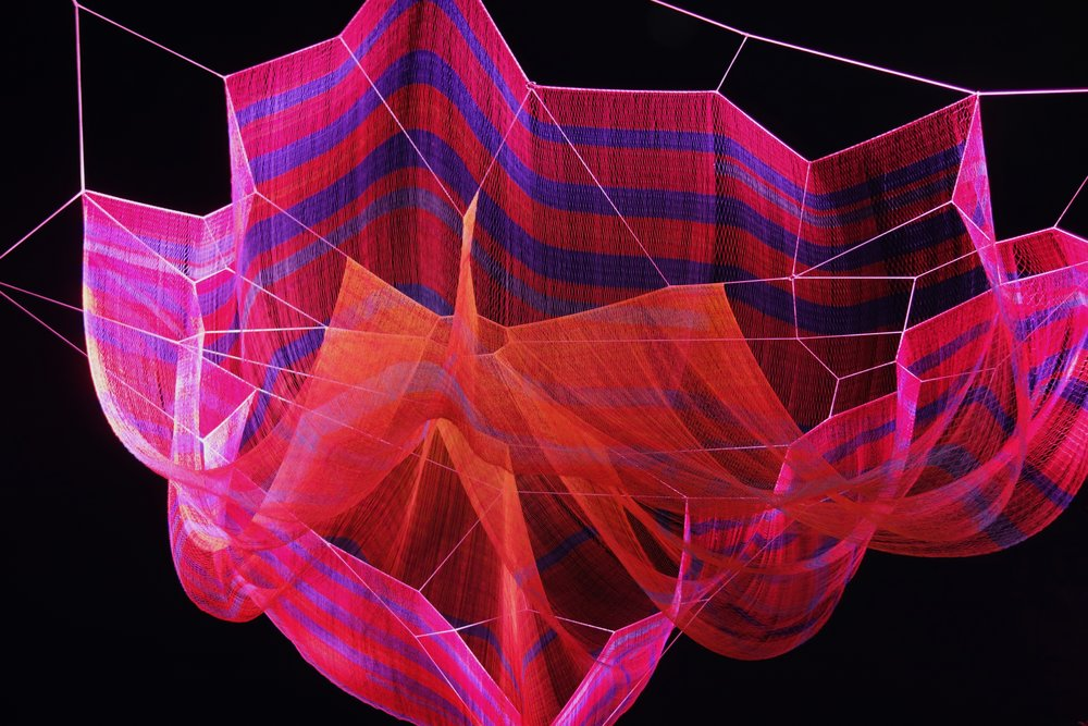 """Where We Met"" Janet Echelman"