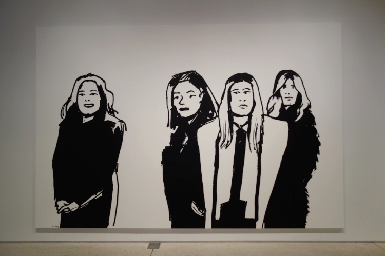"""Shopping Crowd Series Image"" Alex Katz"