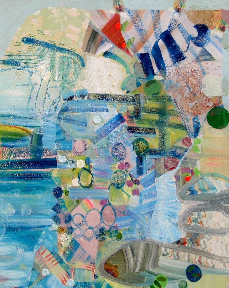 Beach Day,  2017, Oil on Canvas, Josette Urso