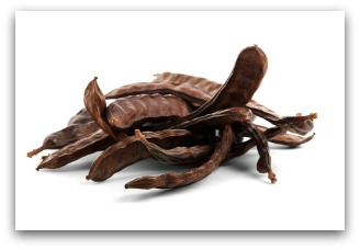 Carob pods are ground to make carob powder.