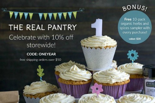One year sale from The Real Pantry!