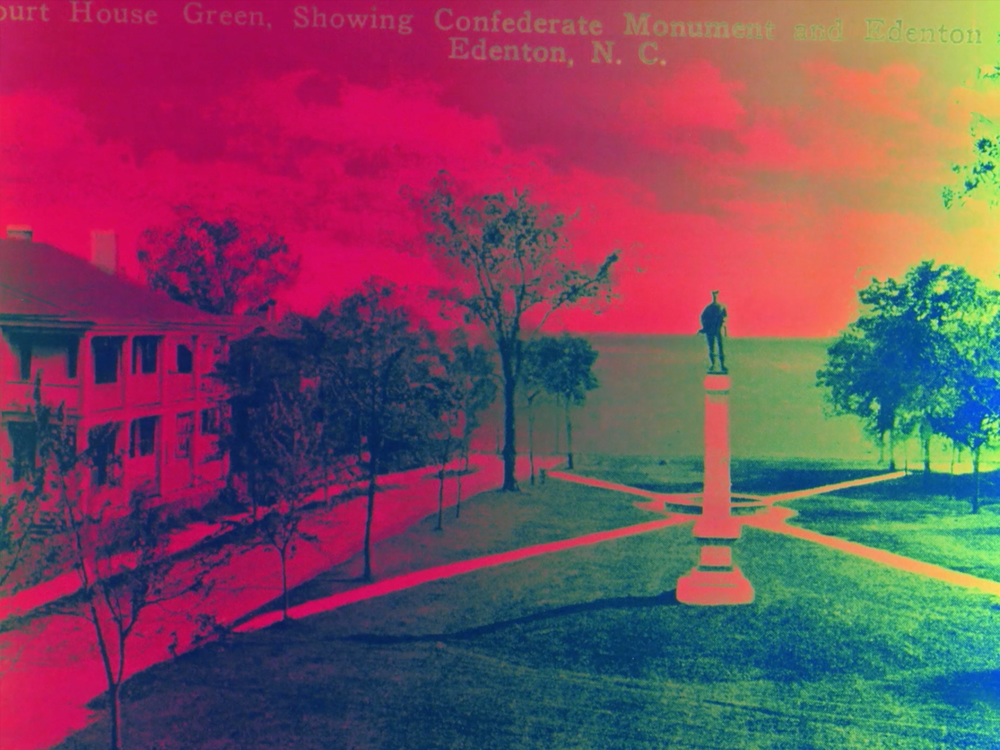 Take it Down    A last stand for the silent guardians of the old order. Take It Down is a filmic day of reckoning for the Old Confederate South. What is up must come down, like the Confederate soldier monuments standing in court house squares across the South. At long last, a grand inversion! Solarized film makes positives bleed into negatives. The South is renewed.  Sabine Gruffat  USA, 2018, 12:30 mins  Visit the   artist's website here  .
