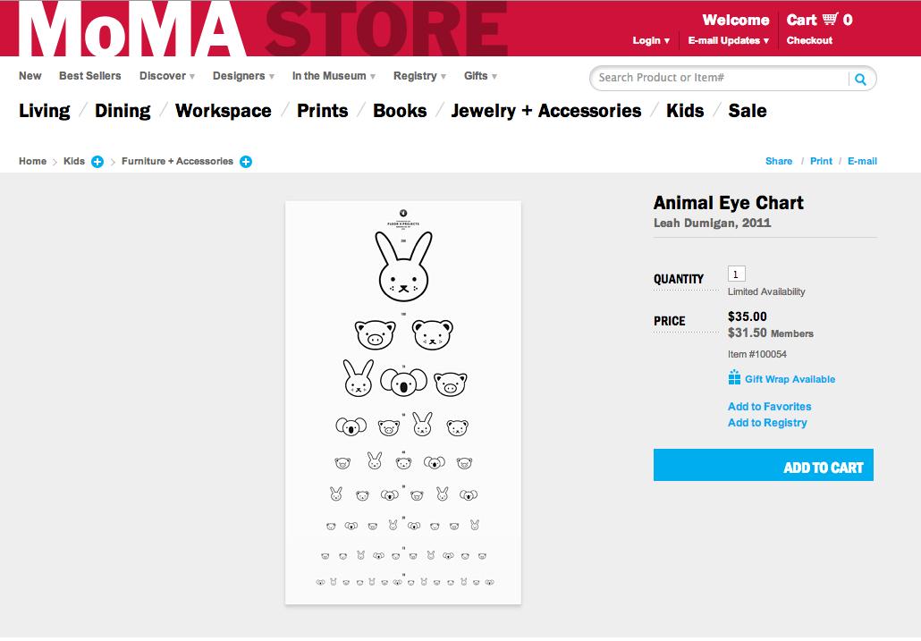 Animal Eye Chart Leah Dumigan