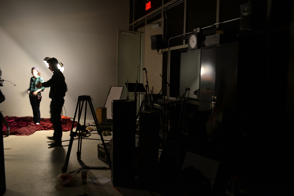 Behind the Scenes of a Student FIlm Set