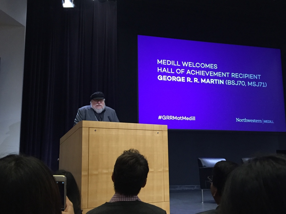 Alumnus George R.R. Martin returns to Medill, talks to students