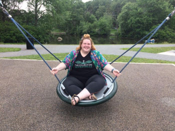 Emily on a swing