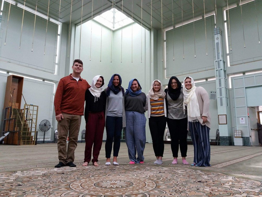Team's first mosque visit