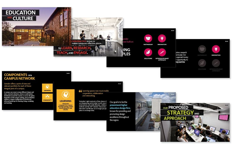INTERACTIVE EDUCATION PRESENTATION  CLIENT: GENSLER ARCHITECTS