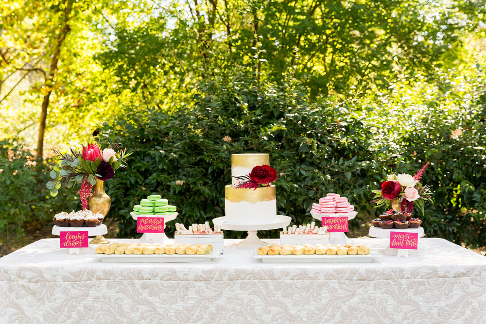 Event Design & Coordination: Simple Little Details Photography:  Daniel McElmury Photography  Venue: Allora Vineyards Rentals: Standard Party Rentals Florals: Mack Floral Design Catering: Oak Avenue Catering esserts: Sweet Tooth Confections Bakery