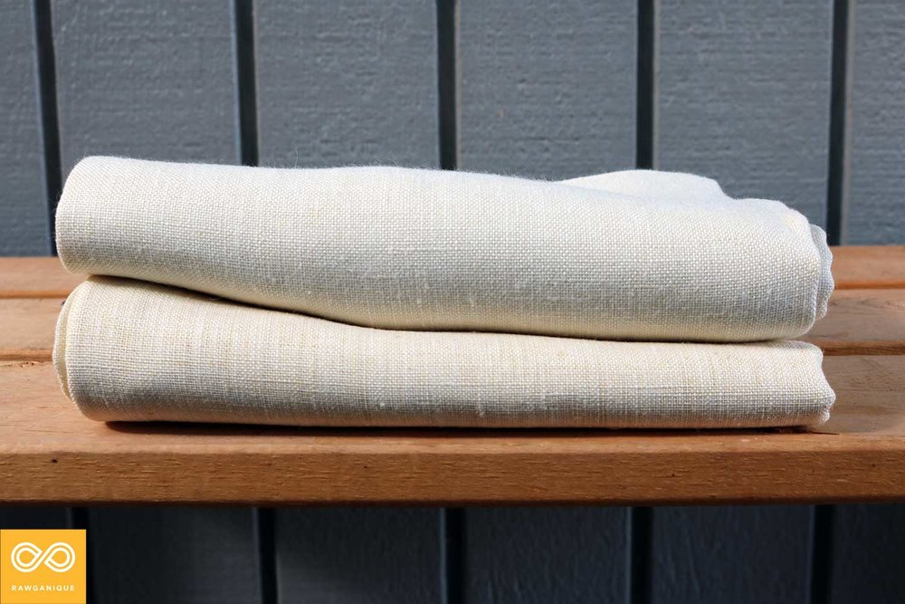 Natural (unbleached, Undyed) Organic Hemp Bed Sheets