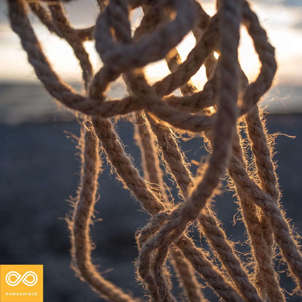 Organic hemp rope
