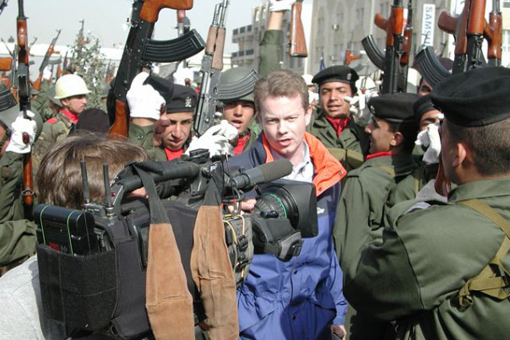 Adam Brookes in Baghdad, 2003