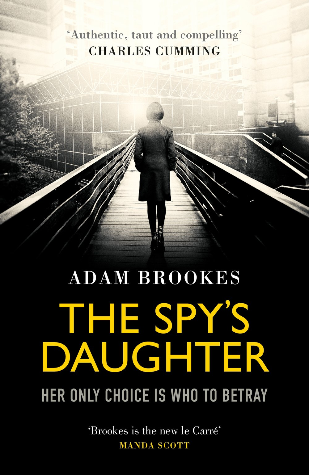 The Spy's Daughter book cover. Author: Adam Brookes