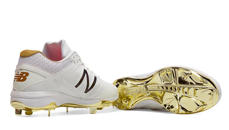 New Balance Gold Baseball Cleats
