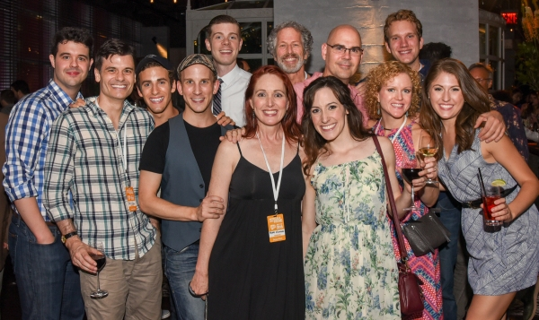 WHAT DO CRITICS KNOW? (front l. to r.) Michael Bello, Chris Gleim, Danny Harris Kornfeld, Prescott Seymour, Mary Mossberg,Sarah Stevens, Kimberly Doreen Burns and Kaitlyn Frank, (rear l. to r.) Sean Bell, Bruce Rebold, Jason Fleck and Matthew Gurren at the 2015 New York Musical Theatre Festival Awards Ceremony.