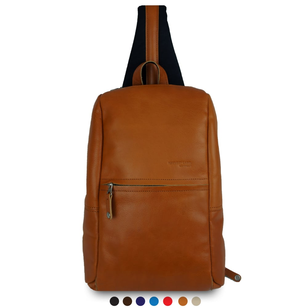 Leather Avenue Sling Pack