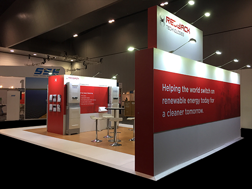 Custom Exhibition Stands Melbourne : Redback technology custom exhibition build and trade show