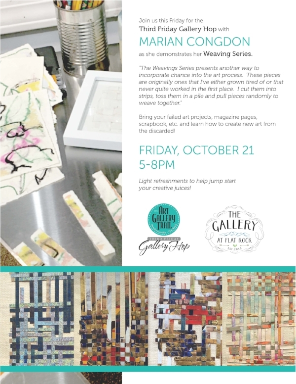 rip and weave old art with marian congdon this friday the gallery