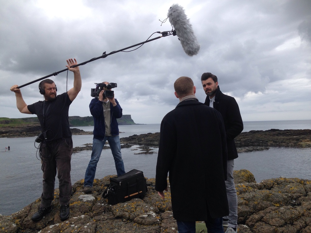 Setting up at Dunseverick Harbour