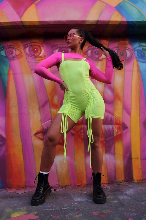 8873f71abf7 NEON Playsuit — She Has Evolved