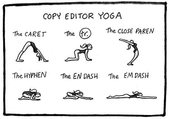 Copy Editor Yoga