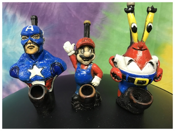 Character pipes available at our Long Island Head Shop in Bellmore, NY.