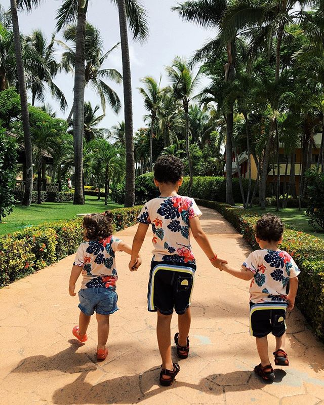 My 3 little treasures wearing my design. My heart just melted. 🌴❤️ #vanessasolis #proudauntie