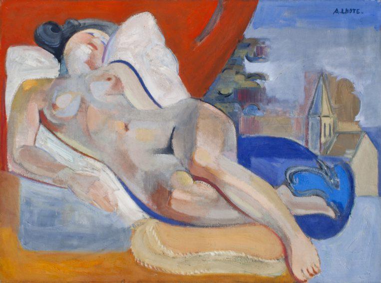 André Lhote, Sovande kvinna. Odaterad. Bild beskuren.