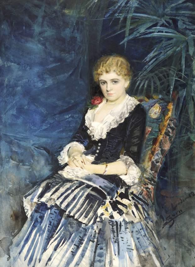 Anders Zorn, Grevinnan Clementine Maria Stenbock, 1882