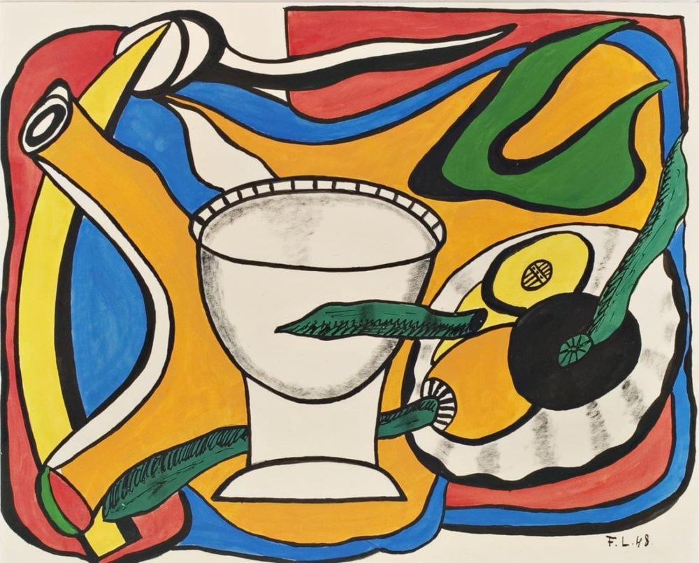 Fernand Léger, Stilleben med bägare, Foto: Jussi Pakkala. Didrichsens Konstmuseum
