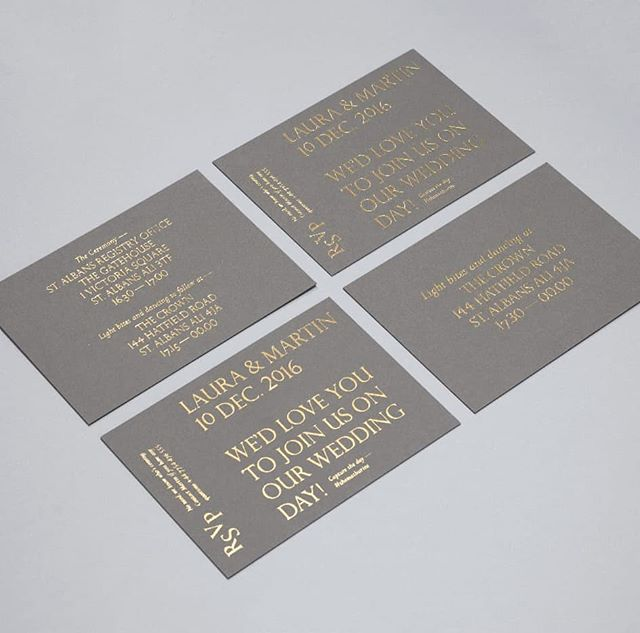 You can't go wrong with simple gold foil 💫  #gold #metallic #weddingdesign #weddingstationery #minimalwedding #coolwedding #weddinginvite #weddinginvitation #hotfoil #foilblocking #peopleofprint #printmaking #bespokewedding #print #printspotters #handprinted #weddingstationery #weddinginspiration #weddinginspo #weddingideas