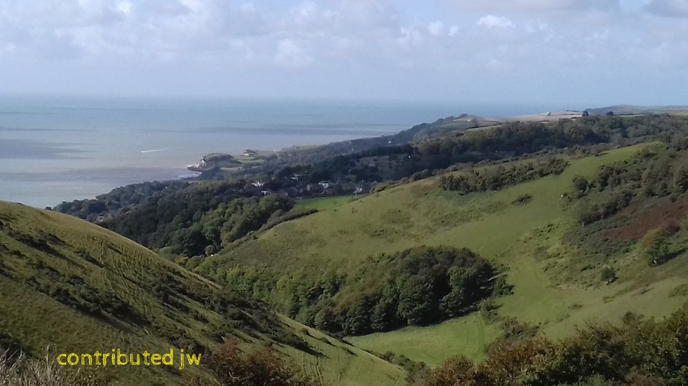view from Ventnor downs