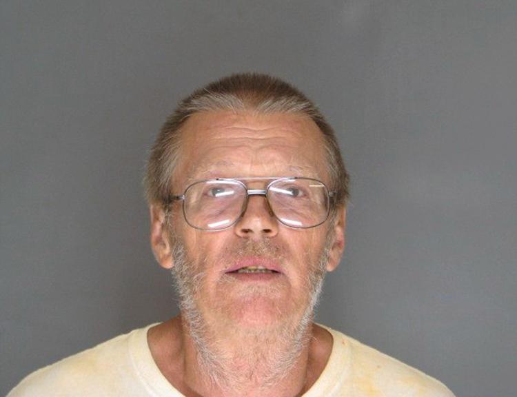 Gerald Duane Skolte mugshot after allegedly shooting tenant over a dispute at rental property.