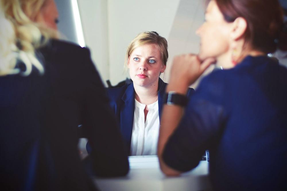 interviewing prospective tenants