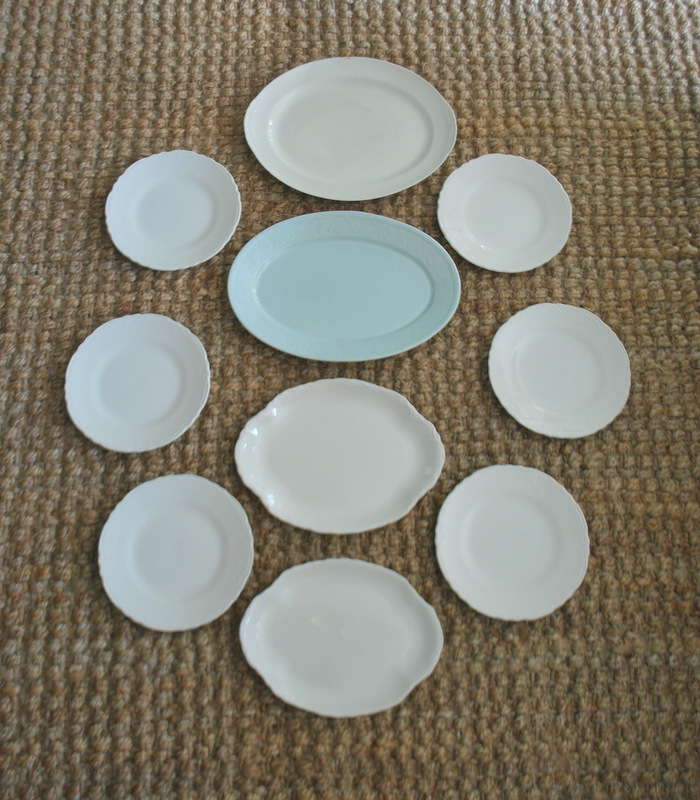I finished the design with four decorative soft blue plates that match the larger platter and some extra small saucers. & Plum Pretty Decor u0026 Design Co.DIY Plate Gallery Wall u2014