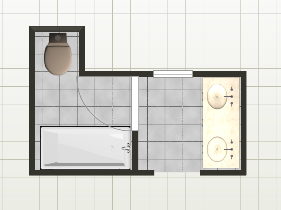 Current Bathroom Layout