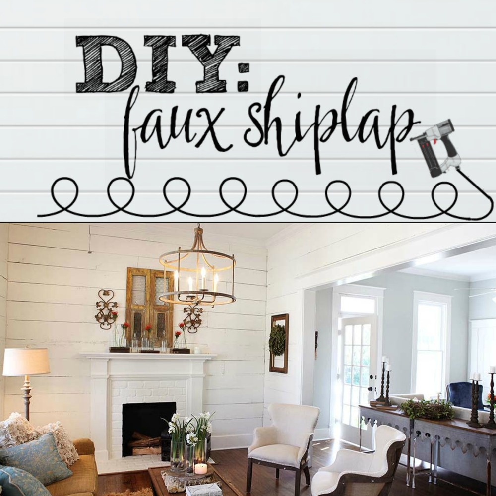 plum pretty decor design co diy faux shiplap wall