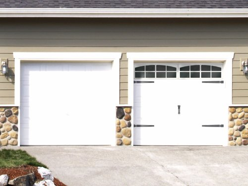 Plum Prettyfaux Carriage Style Garage Doors Diy