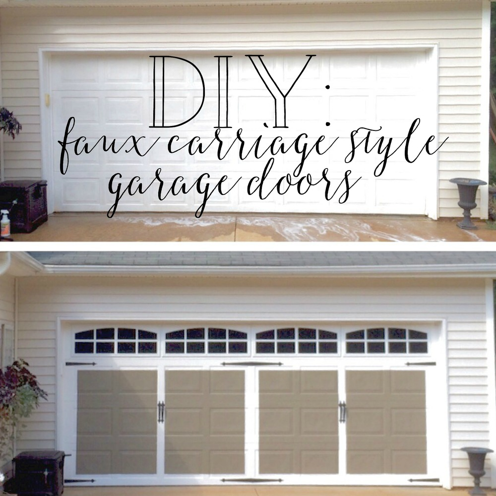 Plum Pretty Decor Amp Design Co Faux Carriage Style Garage