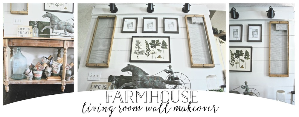 Farmhouse Living Room Wall Makeover