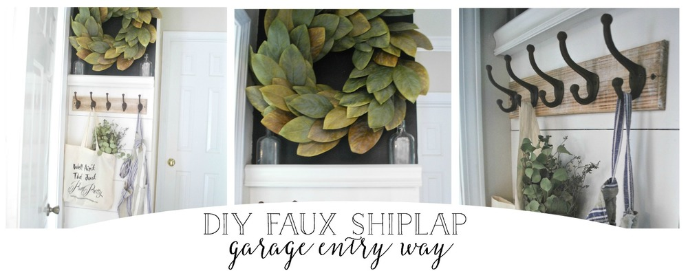 DIY Faux Shiplap Garage Entry Way Makeover