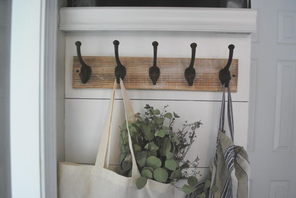 DIY Faux Shiplap Hook System Hanger