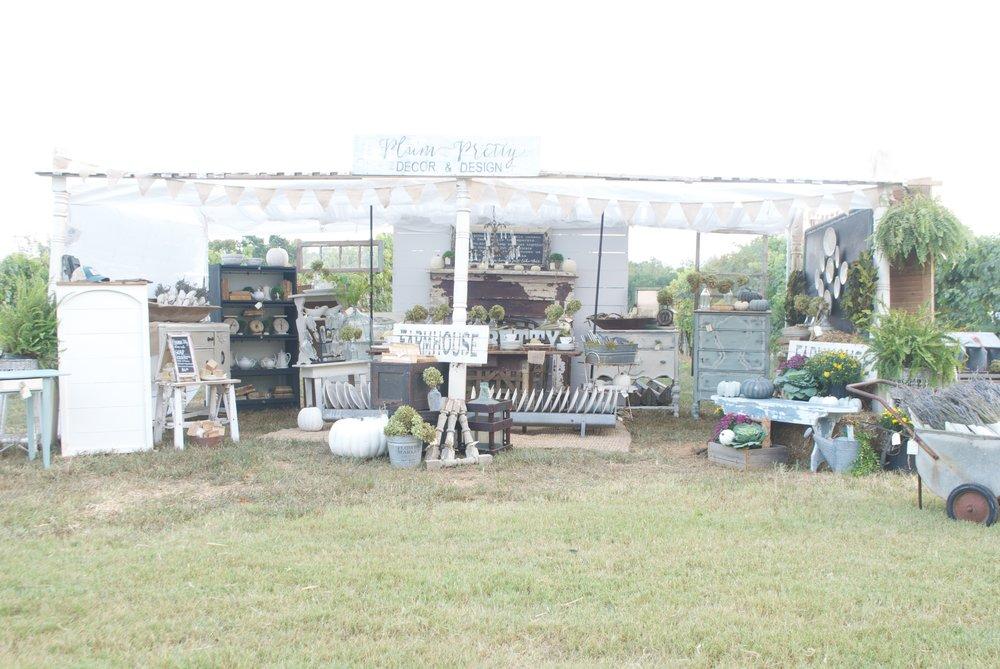 Plum Pretty Decor and Design- The Gray Door Market Setup