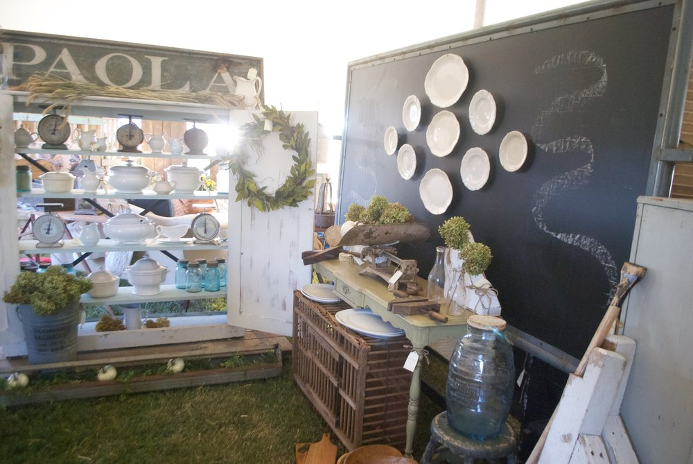 The Market at Chapel Hill- Booth Display- Plum Pretty Decor and Design