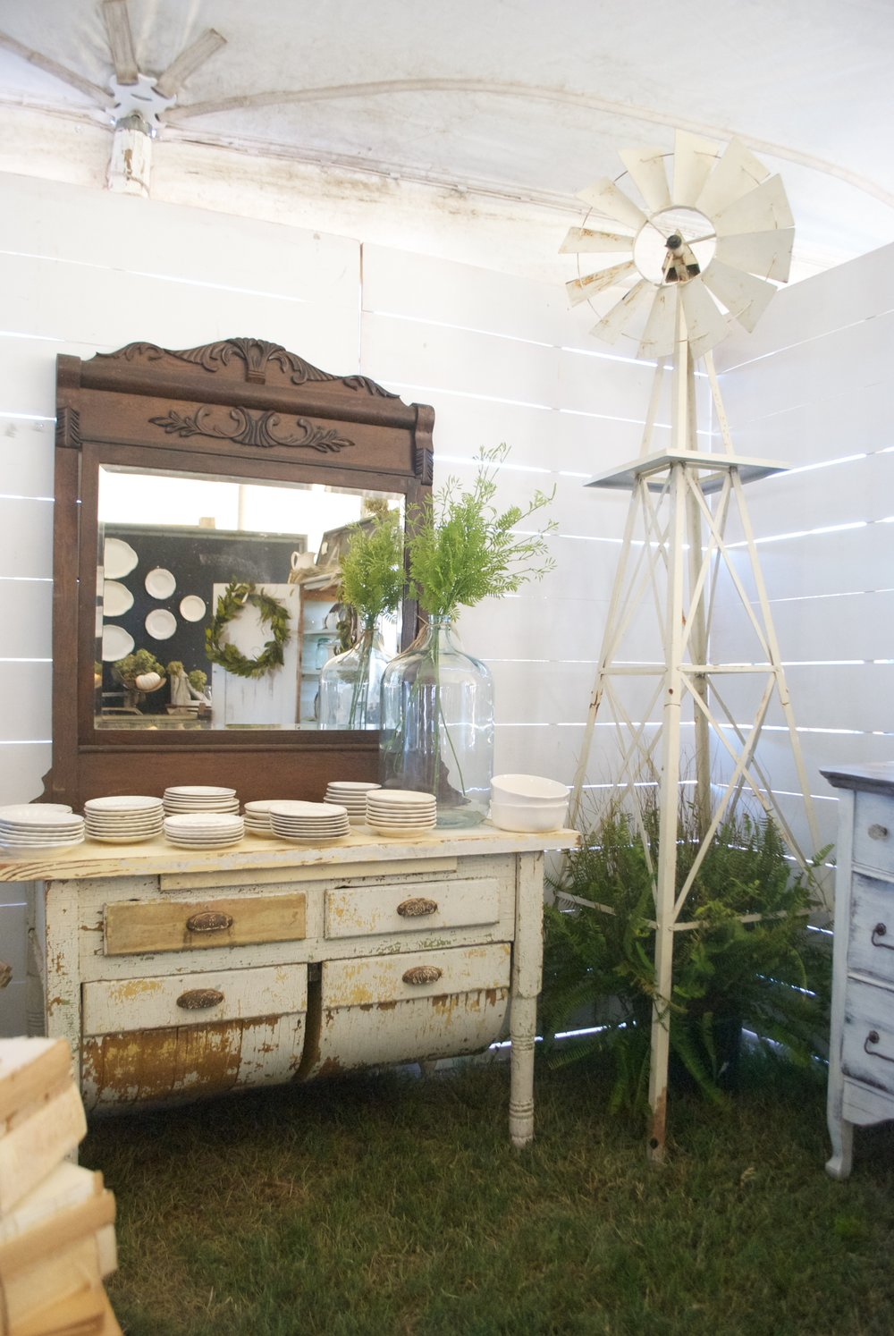 The Market on Chapel Hill- Booth Display- Windmill- Plum Pretty Decor and Design