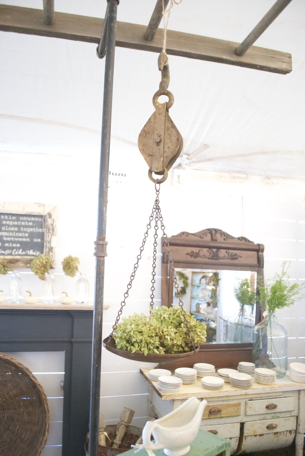 The Market on Chapel Hill- Plum Pretty Decor and Design's Booth Display