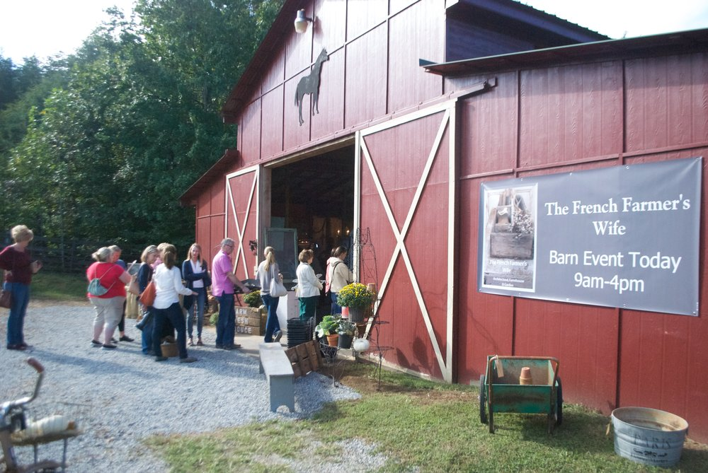 The French Farmer's Wife- Barn Sale- Red Barn