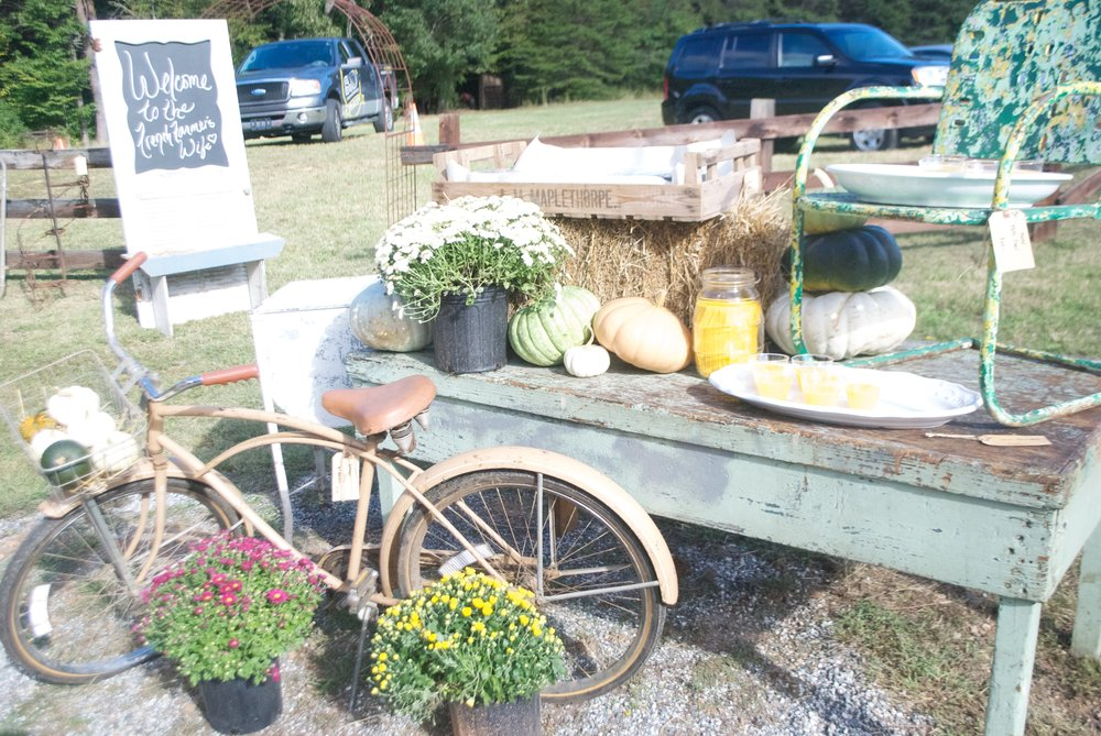 The French Farmer's Wife- Barn Sale- Outdoor Setup